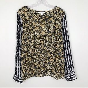 NEW Piperlime Collection Silk Mix Print Blouse